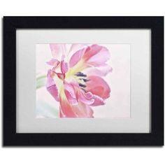 Trademark Fine Art 'Cerise Tulip' Canvas Art by Cora Niele, White Matte, Black Frame, Size: 16 x 20, Multicolor