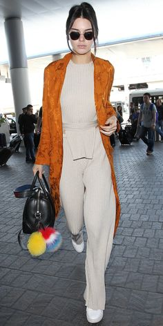 Kendall Jenner's Airport Style Is the Picture of Vintage Chic from InStyle.com. #kendalljenner #fashion