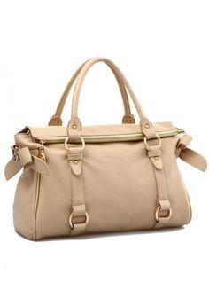 Khaki Fashion Satchels Bag With Bow$52.00