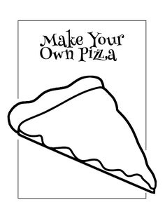 Pizza Coloring Page, Food Coloring Pages, Bear Coloring Pages, Coloring Rocks, Pizza Chef, Make Your Own Pizza, Pizza Delivery, Pizza Dough, Lunches And Dinners