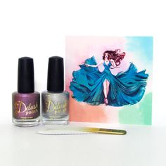 Allure or Fairest of Them All + Glass Nail File Set gifted by Delush Polish.