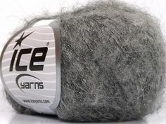 Kid Mohair Fine Grey 57967 Yarns, Ice, Art Yarn, Ice Cream, Cable Knitting