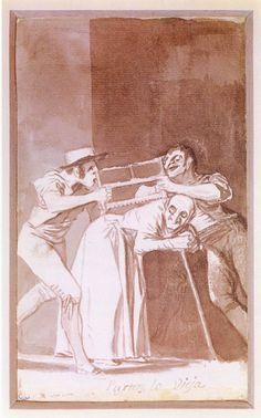 Francisco de Goya - Compartir la vieja, 1810