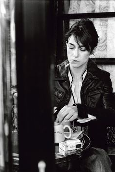 Charlotte Gainsbourg Cafe de Flore by Peter Lindbergh
