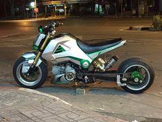Honda Grom Custom, Honda Grom 125, Honda Ruckus, Rat Bikes, Honda Bikes, Cool Bikes, Custom Motorcycles, Cars And Motorcycles, Grom Bike
