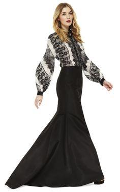 Carolina Herrera Silk Faille Long Evening Skirt