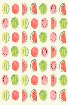 Watermelon pattern design inspiration for creatives Wallpaper Gratis, Pattern Wallpaper, Iphone Wallpaper, Surface Pattern Design, Pattern Art, Art Design, Textile Design, Graphic Design, Designers Gráficos