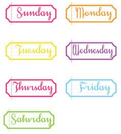 project life weekday tabs -- free from simple brighton http://www.simplebrighton.com/2012/07/project-life-free-printable-vintage.html#
