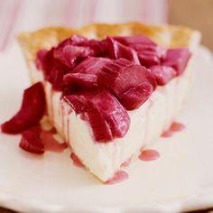 Rhubarb-Lemon Cream Pie | Favorite Rhubarb Recipes - Sunset