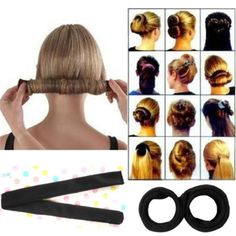 1.0AUD - Hair Styling Band Ring Donut Former Foam French Twist Magic Tool Bun Maker Diy F #ebay #Fashion