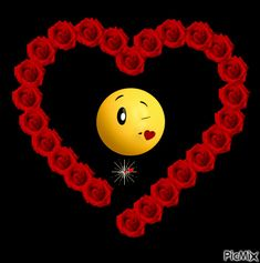 The perfect Smiley Roses Kisses Animated GIF for your conversation. Discover and Share the best GIFs on Tenor. Beautiful Love Pictures, Beautiful Gif, Love Images, Emoticon Love, Emoji Love, Love You Gif, Cute Love Gif, Rose Flower Wallpaper, Heart Wallpaper