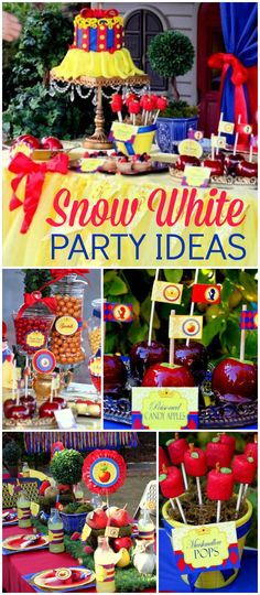 What a gorgeous Snow White girl birthday party! See more party ideas at CatchMyParty.com!