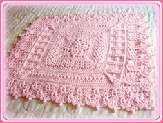 Crochet Pattern, Baby Blanket, Heirloom Coverlet for Baby, PDF file. $4.99, via Etsy.