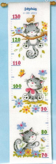 Cat Height Chart - Cross Stitch Kit