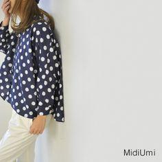 【楽天市場】Midiumi ミディウミ ドット ドルマンスリーブシャツ・1-733585(全2色)(free)【2014春夏】:Crouka(クローカ)