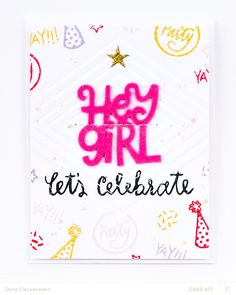 Let's Celebrate! Card by pixnglue at @studio_calico