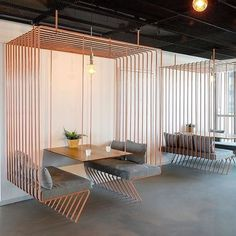 These wire booths by designer @shirli_zamir sit cozy in the Infibound office space. Clean cut and straightforward, we love the dimension it brings to this atmosphere. . . . . . #archdaily #architecturelovers #architect #architects #interior #archite Office Space Design, Workplace Design, Office Interior Design, Cool Office Space, Office Designs, Cafe Interior, Exterior Design, Layout Design, Design Set