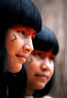beautiful young women, Amazonia, Brazil  .