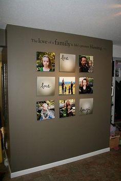 Beautiful Family Picture Wall Idea #home #decor