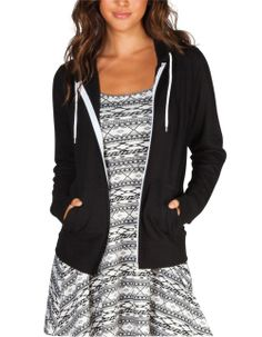 FULL TILT Essential Womens Zip Hoodie http://www.amazon.com/exec/obidos/ASIN/B00ATQ8RXM/hpb2-20/ASIN/B00ATQ8RXM Good, quality sweatshirt. - I would buy it again it is one of my favorite hoodies! - I have a small chest and the xsmall fit me fine.