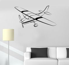 Vinyl Decal Aircraft Aviation Children's Room Kids Playroom Mural Wall Stickers (ig2639)