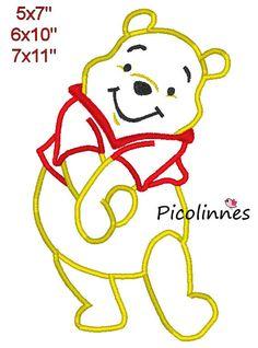 P00H Bear Applique Design Machine Embroidery by Picolinnes4Kids