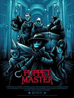Horror Movie Poster Art: Puppet Master 1989 by Dan Mumford Horror Movie Posters, Horror Icons, Movie Poster Art, Horror Movies, Slasher Movies, Arte Horror, Horror Art, Gothic Horror, Dan Mumford