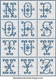 Free Easy Cross, Pattern Maker, PCStitch Charts + Free Historic Old Pattern Books: Sajou No 205