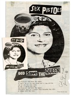 God Save the Queen by Jamie Reid. Since 1977.