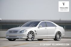 Mercedes-Benz S550 with Wald Body Kit, Strut Grill, & Vellano Wheels.