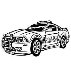 police car color coloring pages