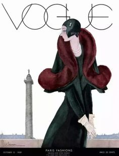 October 1929 - You'll Love These Illustrated Vintage 'Vogue' Covers - Photos