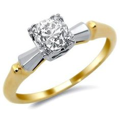 Engagement Rings Yellow Gold Antique 17