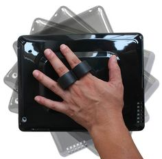 Lapworks 2loop iPad Handle is a case with finger loops on a swivel mount.