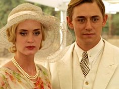 "#vintage esque Emily Blunt and JJ Feild in BBC s production of Agatha Christie s Hercule Poirot mystery ""Death on the Nile"" #1930s style"