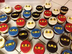 How to make NINJAGO cupcakes. Great Fondant recipe here.
