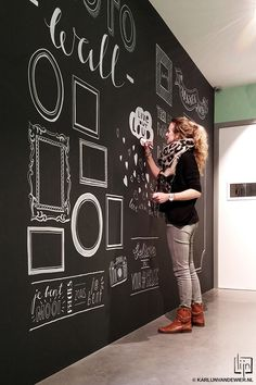Wall illustration at JansenNoy: design & illustration © Karlijn van de Wier