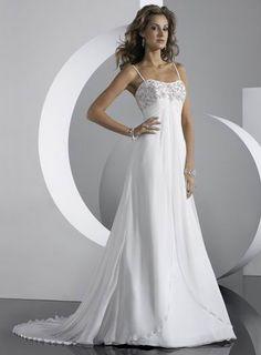 dresses romantic chiffon straps wedding bqxshfs