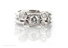 Image result for stacking solitaire rings
