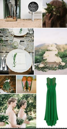 rustic green wedding inspiration board - moonandhoney.com