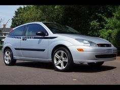 2003 Ford Focus ZX3 5 Speed Manual 2 Door Coupe Silver Slideshow Ford Focus, Cool Cars, Manual, Silver, Cutaway, Money
