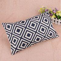Fashion Geometric Decorative Pillowcase Rectangle Throw Pillow Case Linen Cotton Cushion Cover for Sofa Home Decor Decorative Pillow Cases, Throw Pillow Cases, Pillow Covers, Throw Pillows, Moroccan Cushions, For You Blue, Sofa Home, Geometric Pillow