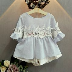 Baby clothes, Kids Clothes, Toddler Clothes - Buy Kids clothes at cheap price Little Girl Dresses, Girls Dresses, Toddler Outfits, Girl Outfits, Rompers For Kids, Sewing Kids Clothes, Baby Dress Patterns, Kids Suits, Baby Kind