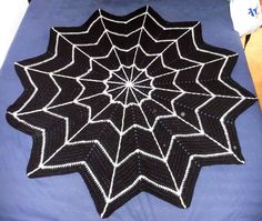 Crochet Halloween spider web