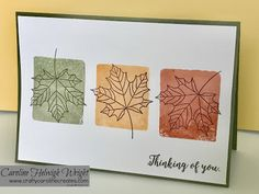 Colourful Seasons Autumnal Card Inspiration with Clear Block Stamping.