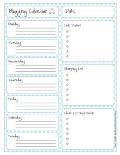 evelyn kate designs: Blogging Calendar: Printable