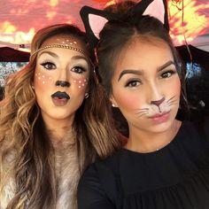 Deer makeup. Potential Halloween costume?