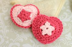 Crochet Heart Sachet Pattern - Petals to Picots