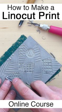 New online linocut class that teaches the step-by-step process of making a linoleum block print. By Boarding All Rows Linocut Artists, Linoleum Block Printing, Stamp Carving, Linoprint, Chalk Pastels, Tampons, Shabby, Printing On Fabric, Encaustic Painting