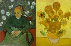 "As a token of friendship, Vincent asked his brother to give his friend Paul Gauguin a version of 'La Berceuse'. In a letter on the 23rd of May 1889 he wrote to Theo: ""But if Gauguin wants sunflowers instead, it's only absolutely fair that he gives you something that you like as much in exchange. Gauguin himself above all liked the sunflowers later, when he had seen them for a long time."" - http://vangoghletters.org/vg/letters/let776/letter.html   Which one do you like best?"